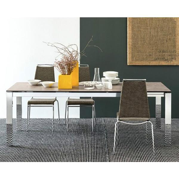 カリガリス バロン BARON ダイニングテーブル 伸長式 リードグレイ(セラミック)天板×マットホワイト(スチール)脚 送料無料 ポイント5倍 lepice 04