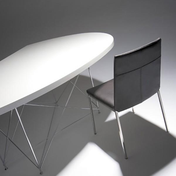 変形 ダイニングテーブル LOOP ループ W170 ウォルナット天板 ブラック脚 日本製  オリジナル 送料無料|lepice|02