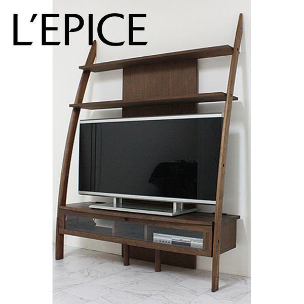国産 テレビボード 135×43×180cm 46V型対応 ウォルナット オイル仕上げ|lepice