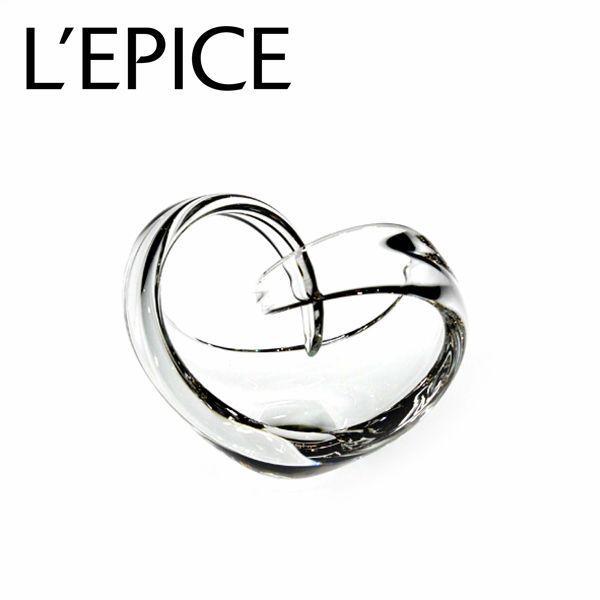 スガハラ フラワーベース ハートクルヴァ クリア 手作り 一輪挿し ギフト|lepice