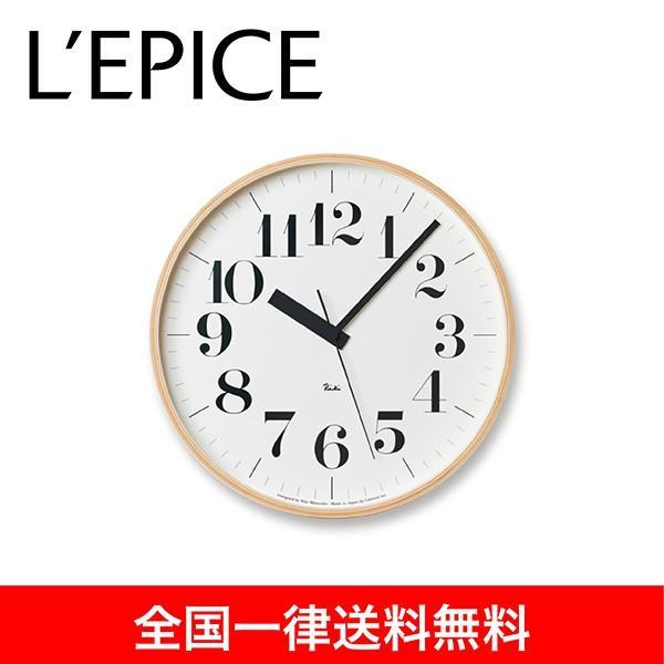 電波時計 渡辺 力 RIKI CLOCK RC L  ナチュラル  WR08-27  送料無料|lepice