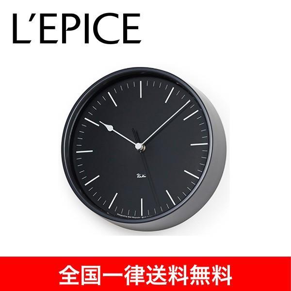 電波時計  渡辺 力 RIKI STEEL CLOCK RC ブラック  WR08-24 BK 送料無料|lepice