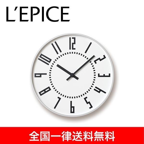 eki clock  駅クロック ホワイト 五十嵐威暢  TIL16-01 WH  送料無料 lepice