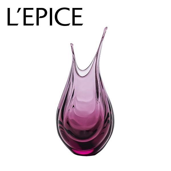 スガハラ フラワーベース haruna はるな  ワインレッド 手作り 一輪挿し ギフト|lepice