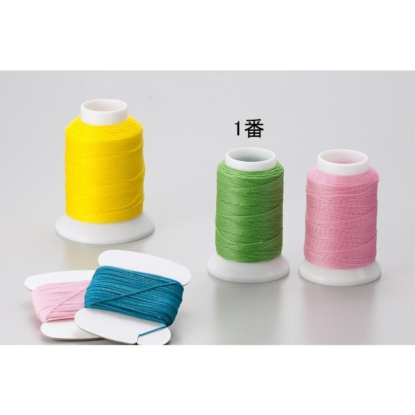 手縫い用Wロービキ糸 売り込み WEB限定 ビニモ1番手 60m巻 全23色