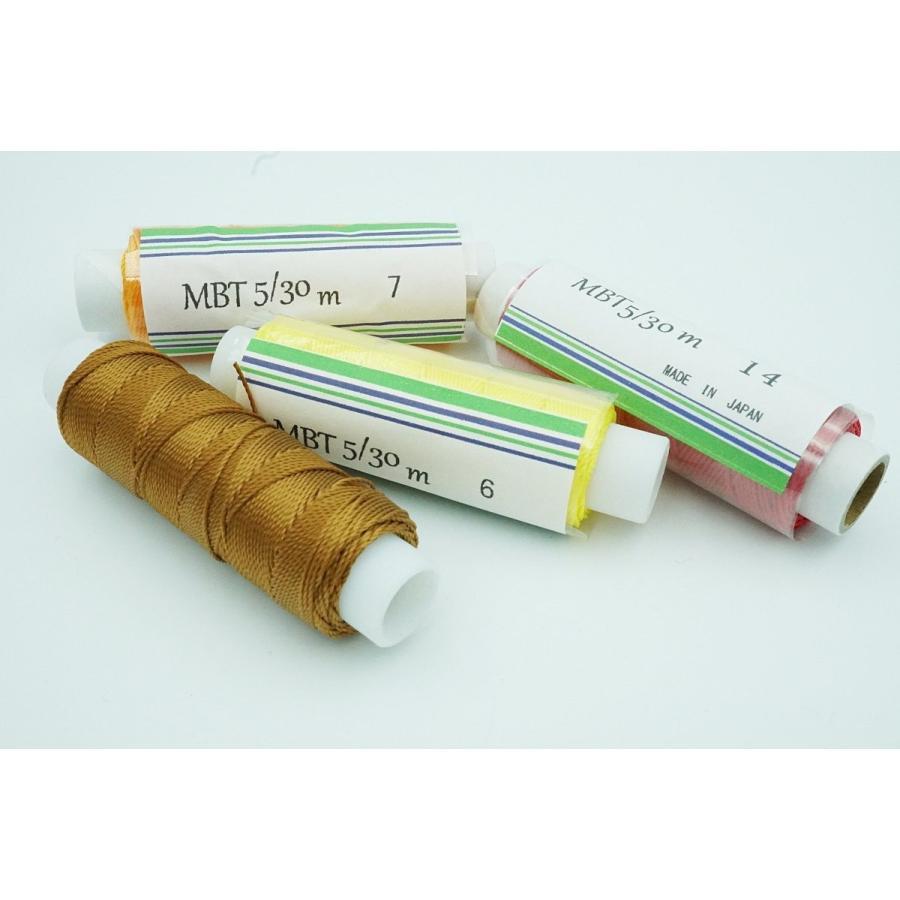 手縫い用ビニモMBT5番手 ボンド加工糸 ランキング総合1位 価格交渉OK送料無料 30m平行巻き 全17色