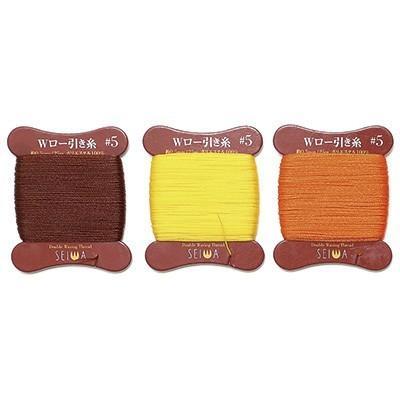 ギフト 手縫い用Wロービキ糸 ビニモ5番手 25m巻 SEIWA 40%OFFの激安セール 全15色