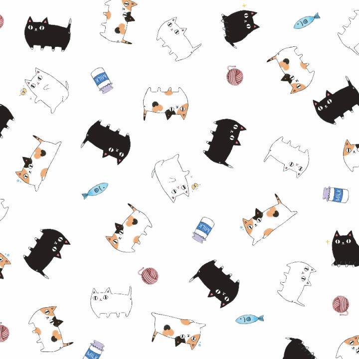 ラッピング包装紙 猫3兄弟|leun