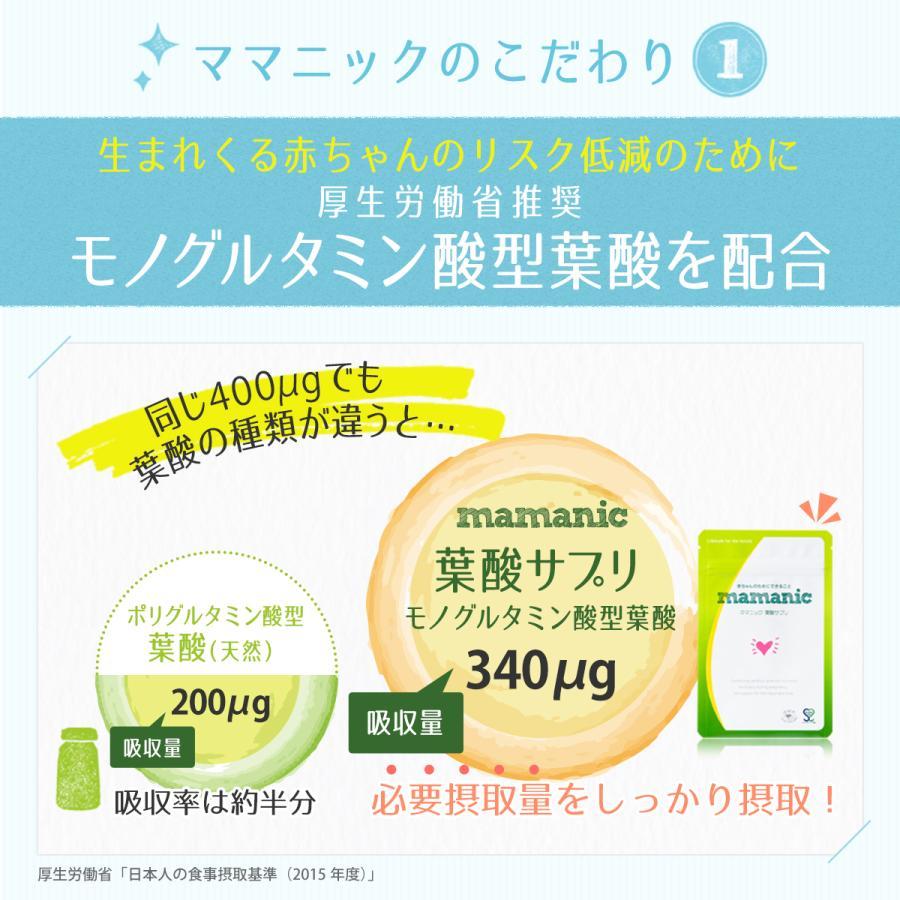 葉酸サプリ ママニック 単品 葉酸サプリメント 鉄分 ビタミン カルシウム 亜鉛 ミネラル 妊娠 妊活 アミノ酸 安心安全|levante|13