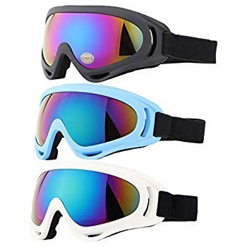 Ski Goggles, Yidomto Pack of 3 Snowboard Goggles for Kids,Boys,Girls,Y