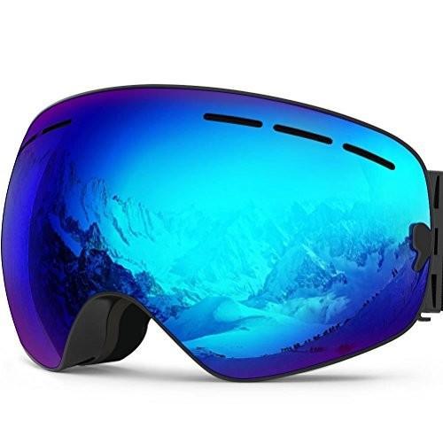 Zionor X Ski Snowboard Snow Goggles OTG Design for Men Women with Sphe