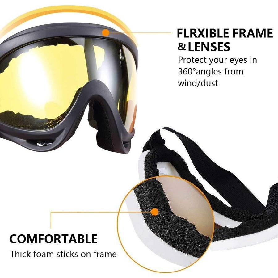 Ski Goggles, Skate Glasses, Motorcycle Cycling Goggles, Outdoor Sports