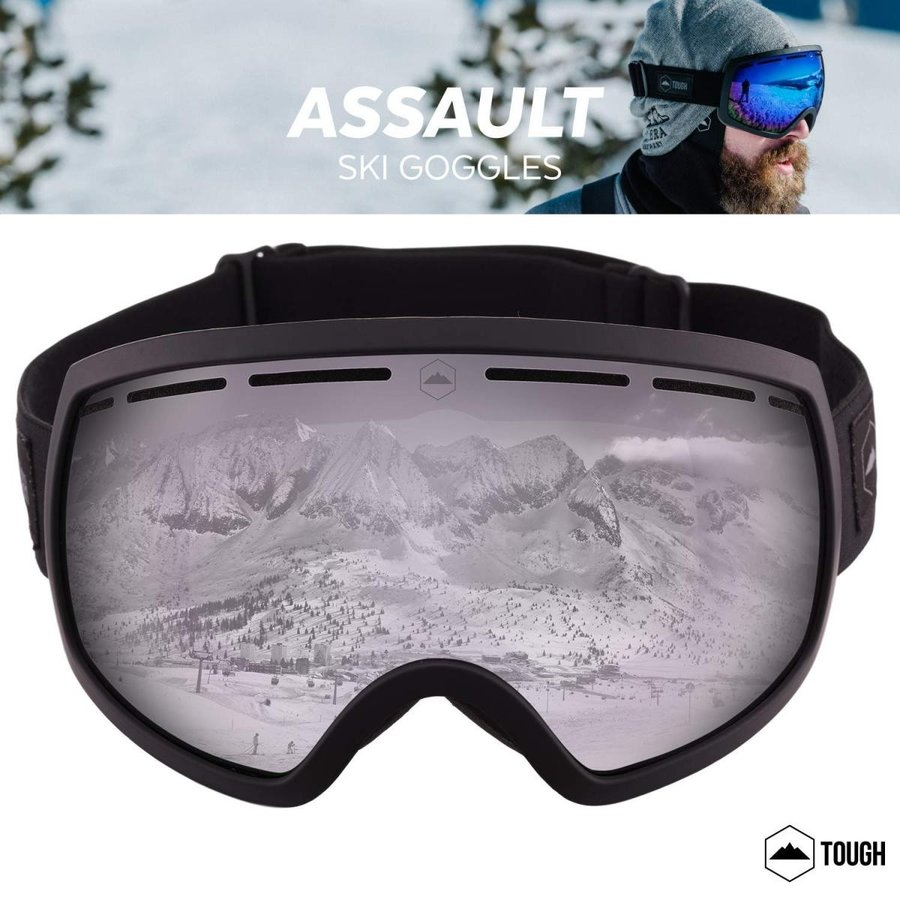 Ski & Snowboard Goggles - Dual-Layer Lens Snow Goggles for Skiing, Sno