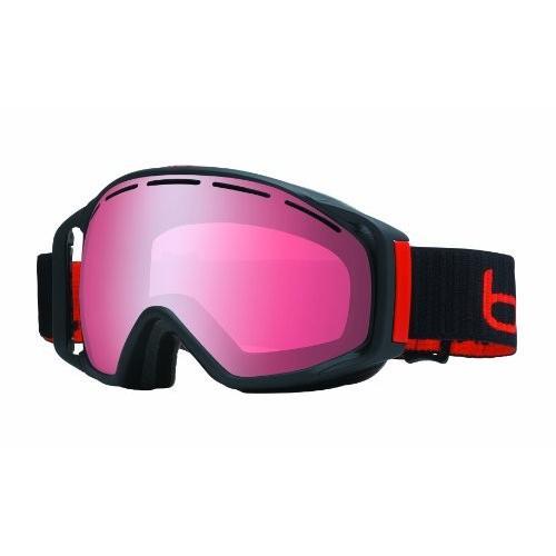 Bolle Gravity Goggles, Matte 黒, Vermillon Gun Lens