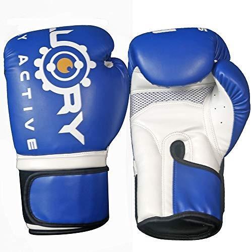 FLUORY Boxing Gloves for Men & Women, PU UFC MMA Muay Thai Sparring Ki