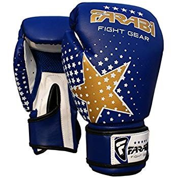 Farabi Kids Boxing Gloves 6-oz Blue Kick Boxing Muay Thai Training Jun