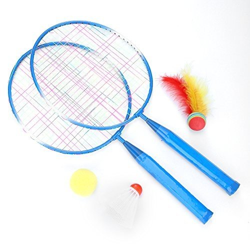 TOPINCN Badminton Rackets Pair of 2 Rackets Cartoon Lightweight & Stur