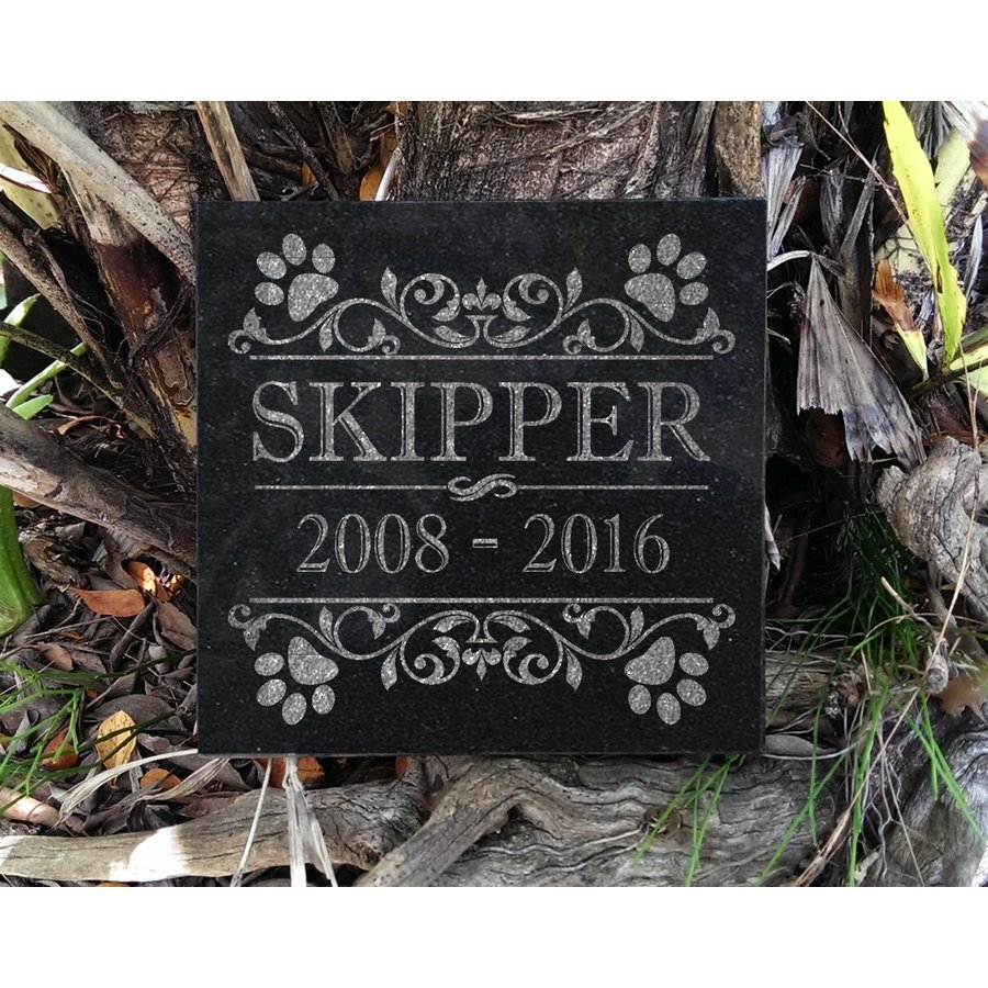Personalized Small Pet Memorial Plaque 6x6 Cat Dog Garden Grief Sympat