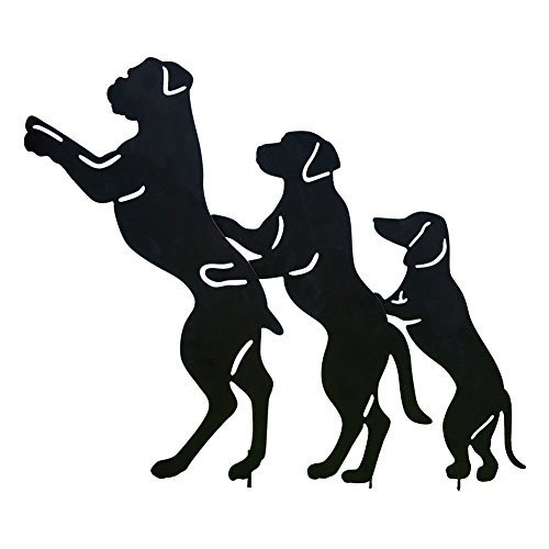 Collections Etc Conga Line Dog Dog Dog Shadow Silhouettes Funny Novelty Metal 46e