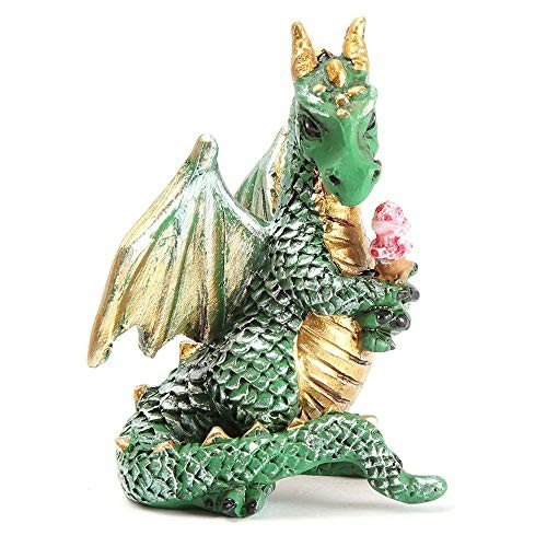 Ice Cream Cone Dragon for Miniature Garden, Fairy Garden