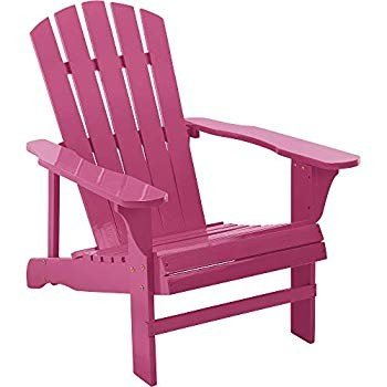 Leigh Country Classic Painted Wood Adirondack Chair ? Pink