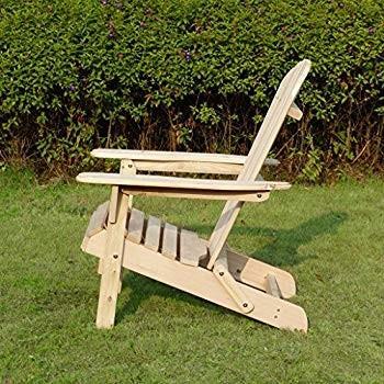 Merry Garden Foldable Wooden Adirondack Chair, Outdoor, Garden, Lawn,