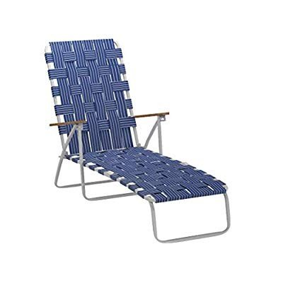 Rio Brands BY405-0138 Hi Back Web Chaise, Blue