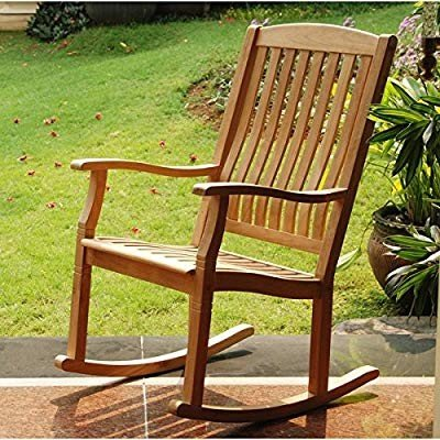 Outdoor Rocking Chairs,Traditional Style Sherwood Natural Brown Teak P