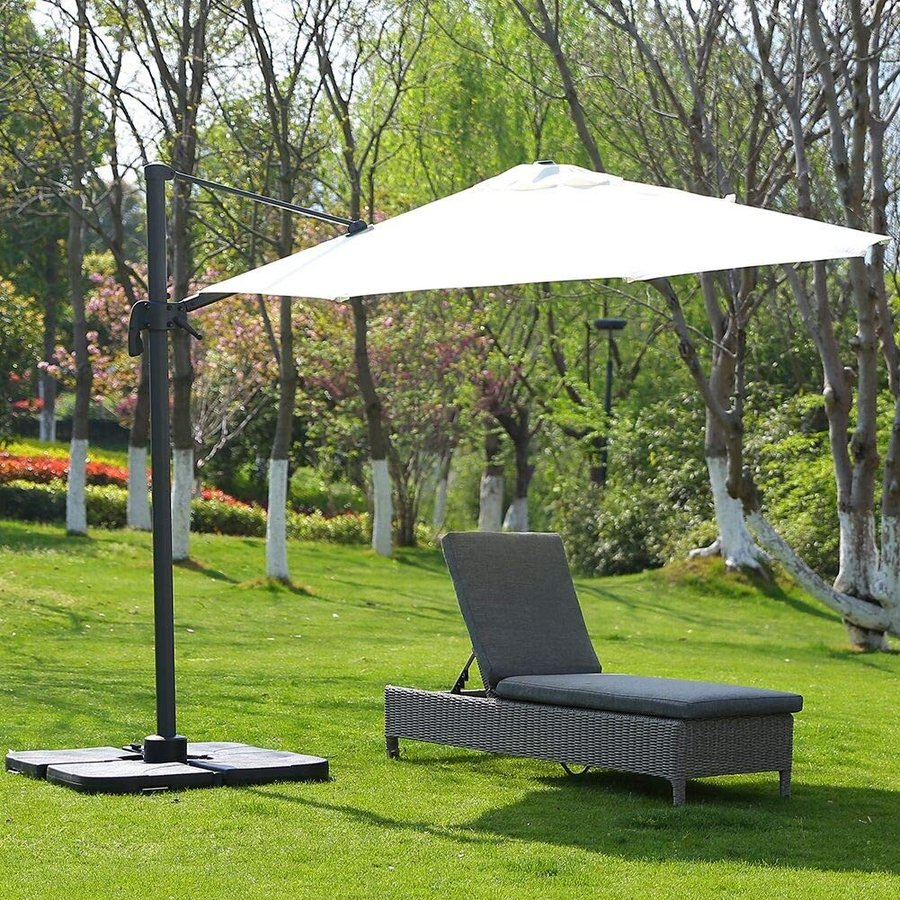 ROSE GARDEN Outdoor Patio Chaise Lounge Chair, Adjustable Pool Rattan