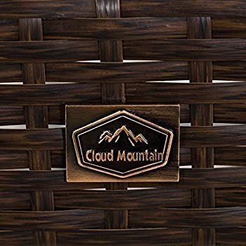 Cloud Mountain No Tax Updated Set of 4 Outdoor Wicker Rattan Bar Stool