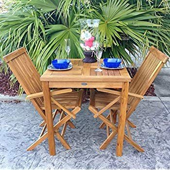 A-Grade Teak Wood California Outdoor Folding Patio Dining Arm Chair (S