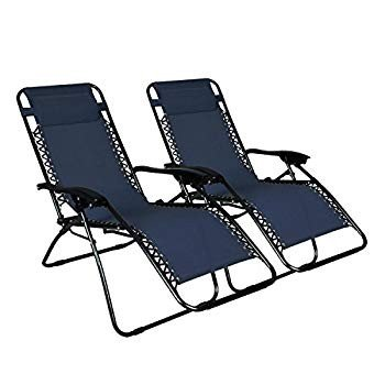 Odaof Zero Gravity Chair Recliner Outdoor Patio Lounge Chair W/Cup Hol