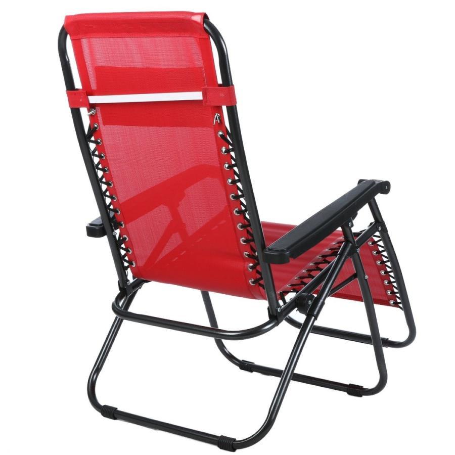 Wakrays Folding Zero Gravity Reclining Lounge Portable Garden Beach Ca