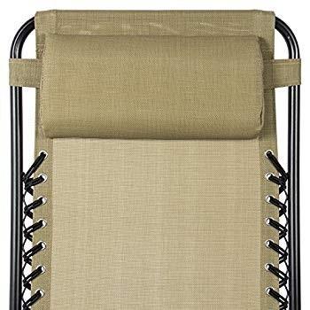 Zero Gravity Chairs Case Of (2) Tan Lounge Patio Chairs Outdoor Yard B