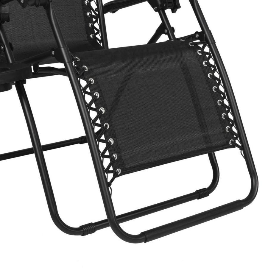 Quklei Zero Gravity Chairs Set of 2 Outdoor Adjustable Folding Lounge
