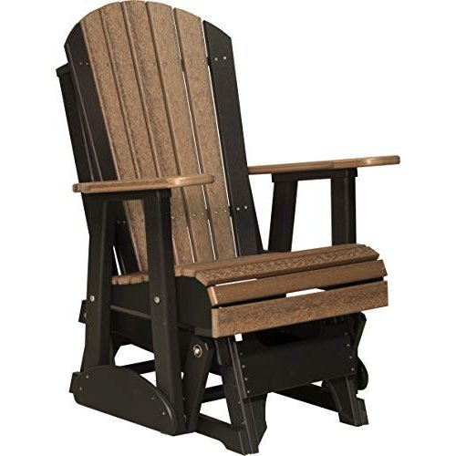Furniture Barn USA Outdoor Adirondack Glider Chair with Arms - Antique