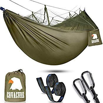 Camping Hammock with Net - Lightweight COVACURE Double Hammock, Portab