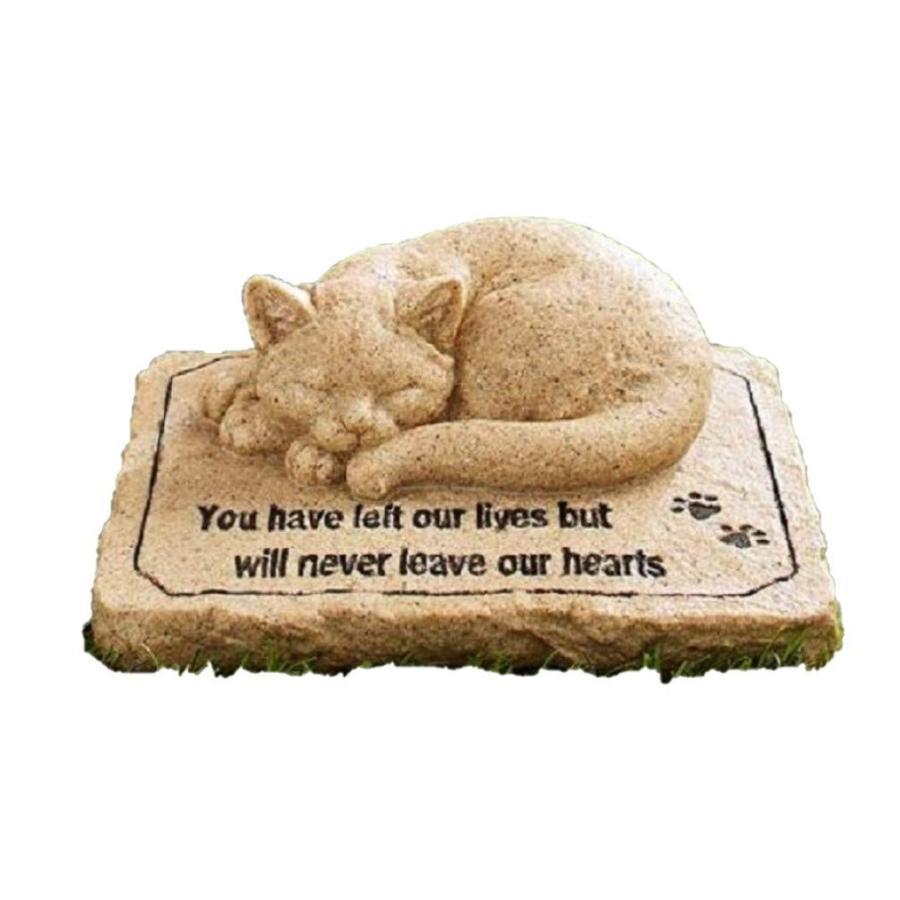CT DISCOUNT STORE Cat Memorial Stone Stone Stone Cold Cast Ceramic Memorial Garden 733