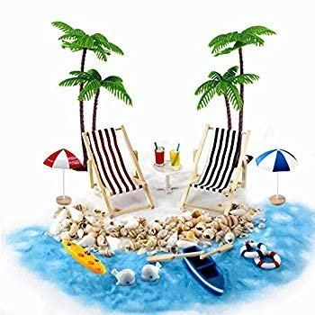 Beach Zen Garden Accessories, Mini Desktop Desktop Desktop Sandbox Decor, 16 Pcs Minia 934