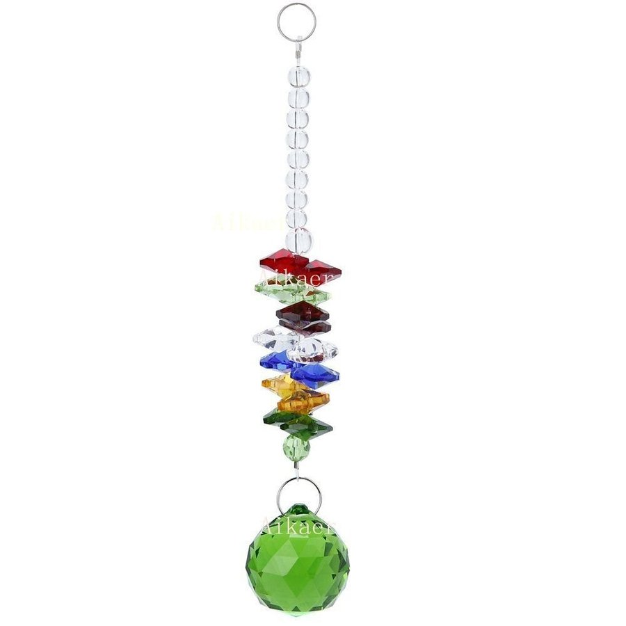 Aiskaer 6pcs Beautiful Colorful Crystal Ball Pendant Chandelier Chandelier Chandelier Decor 810