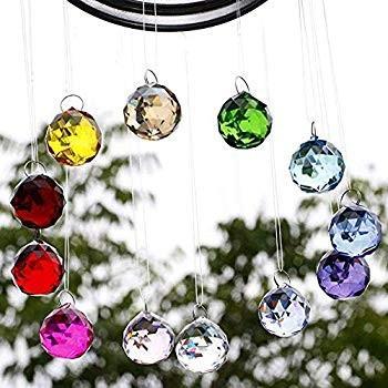SunAngel Coloful Glass Crystal Ball Prisms Pendant Pendant Pendant Feng Shui Suncatche 2f3