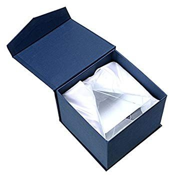 OwnMy Pyramid Crystal Prism Desk Ornament Suncatcher with Gift Box for