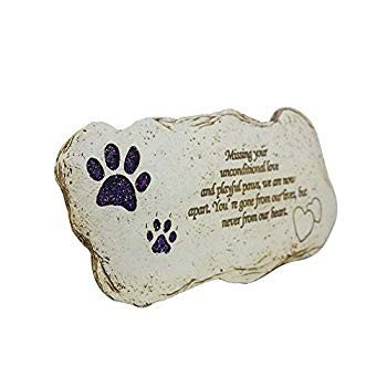 Pet Memorial Dog Stone, Hand-Printed Personalized Loss of Pet Gifts Gifts Gifts (S f26