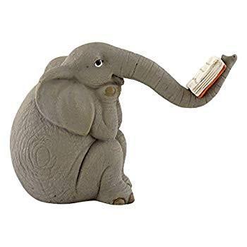 Top Collection Miniature Garden Elephant Reading Book Book Book f22