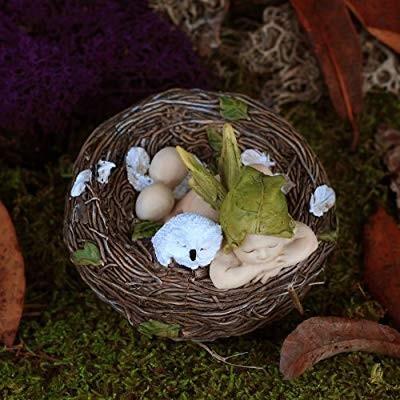 Top Collection Miniature Fairy Garden and Terrarium Sleeping Fairy Fairy Fairy Bab 2ec
