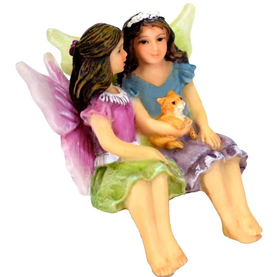 Twig & Flower Miniature Fairy Garden Sisters Alice & May May May (Hand Painted 164