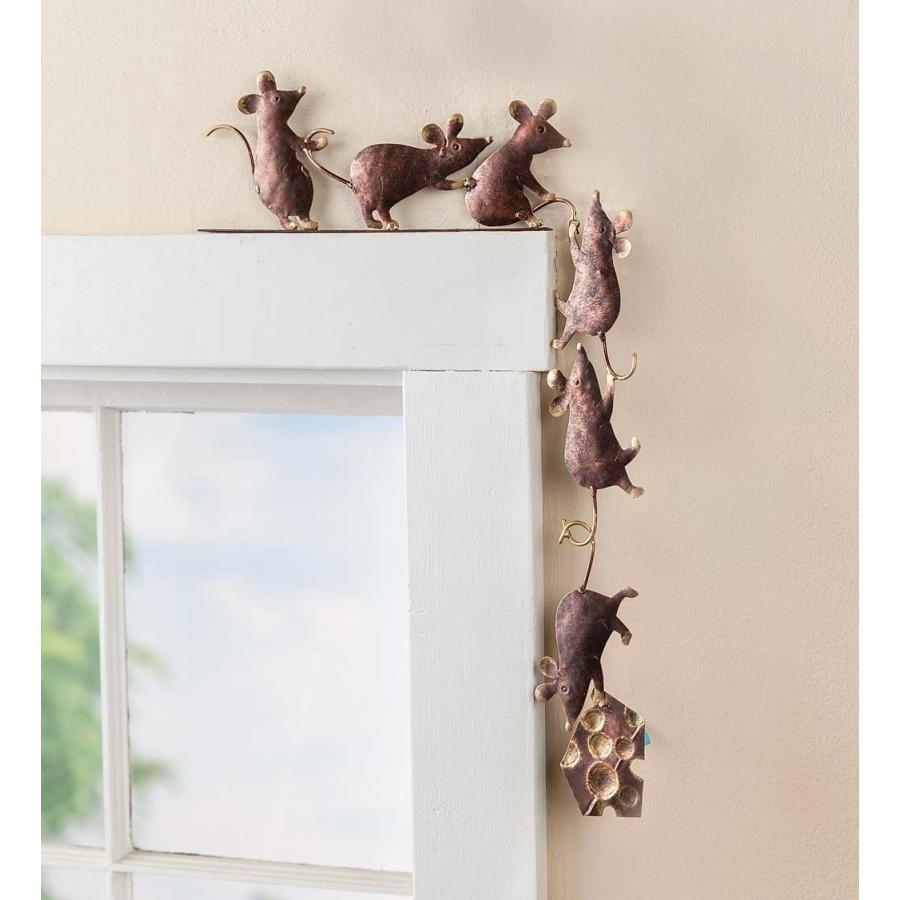 Wind & Weather Metal Mice Door Door Door Crawler 4.25''W x 10''H x .75''D 420