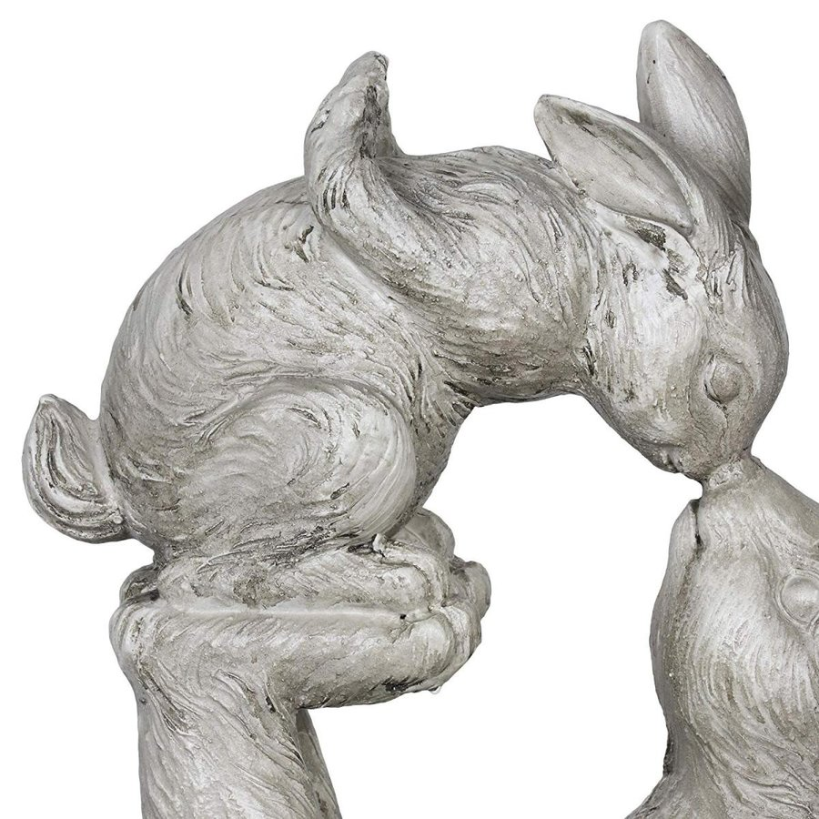 Exhart Rabbit Sculpture, Rabbit Kissing Baby Bunny Garden Statue - Bun