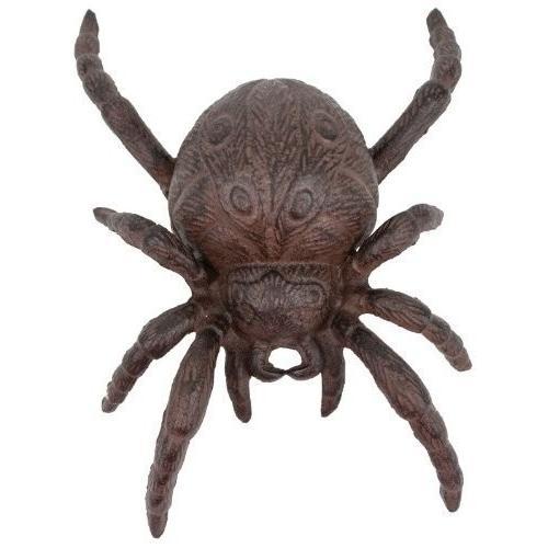 Cast Iron Iron Iron Halloween Spider Garden Statue Patio Yard 08e