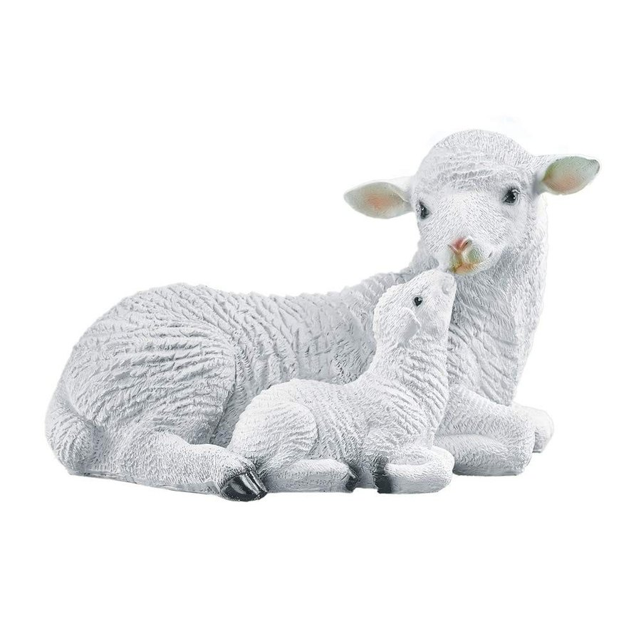 Collections Etc Mother and Baby Sheep Sheep Sheep Garden Statue - Realistic Textur a7f
